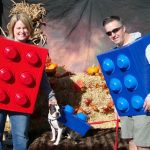 DIY Family LEGO Costumes for Dogs and Owners