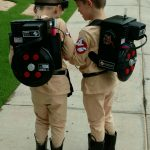 DIY Ghostbusters Costumes for Twins
