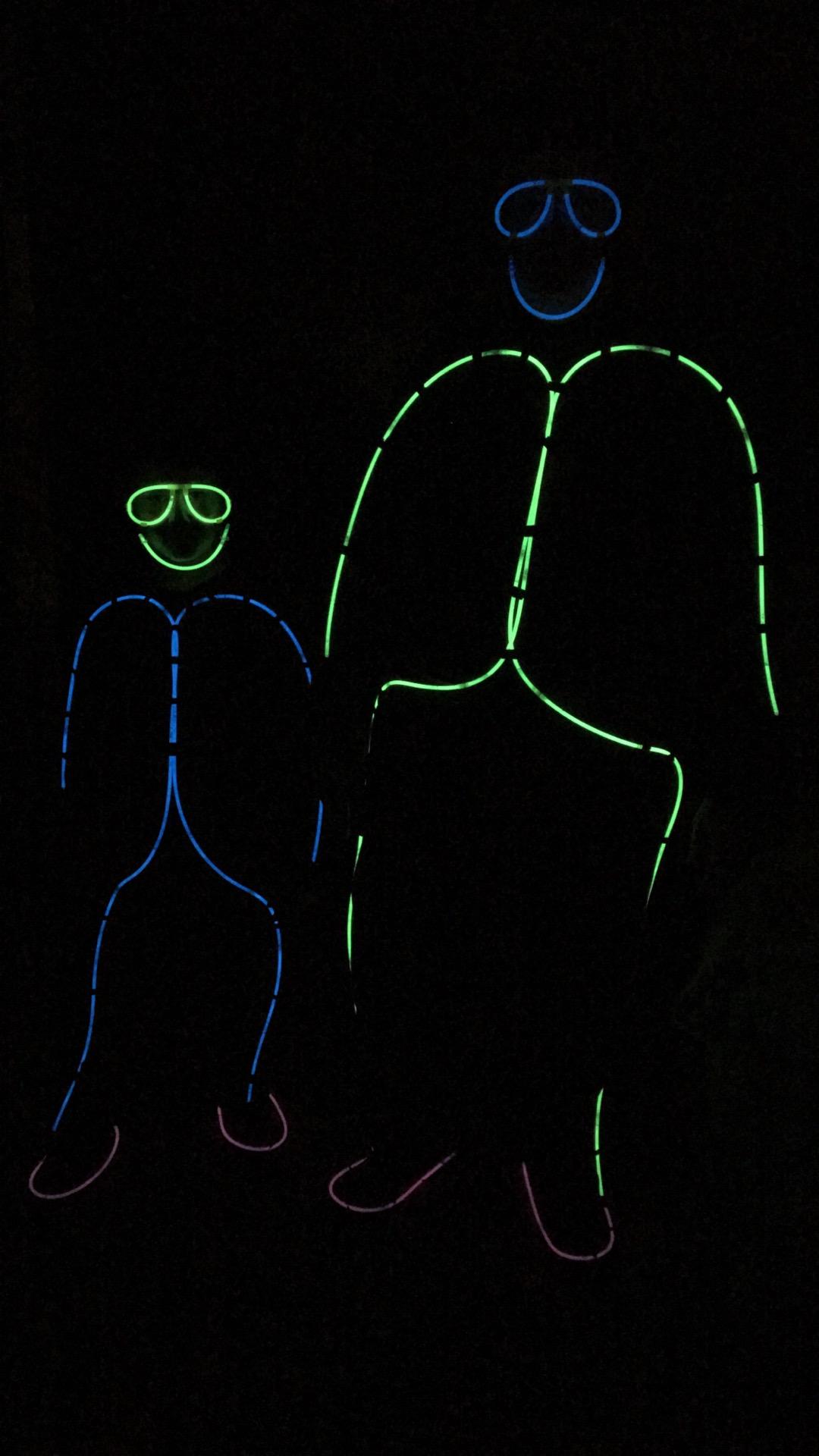 Glow in the dark stick man