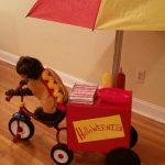 DIY Happy HalloWEENIE Hot Dog Stand Dog Costume