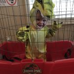 DIY Baby T-Rex Jurassic Park Costume