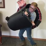 DIY Kid In Trash Can Optical Illusion Costume