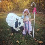 DIY Little Bo Peep and Sheep Costume