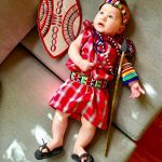 DIY Maasai Warrior from Kenya Baby Costume