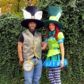 Mad Hatter & White Rabbit from Alice in Wonderland
