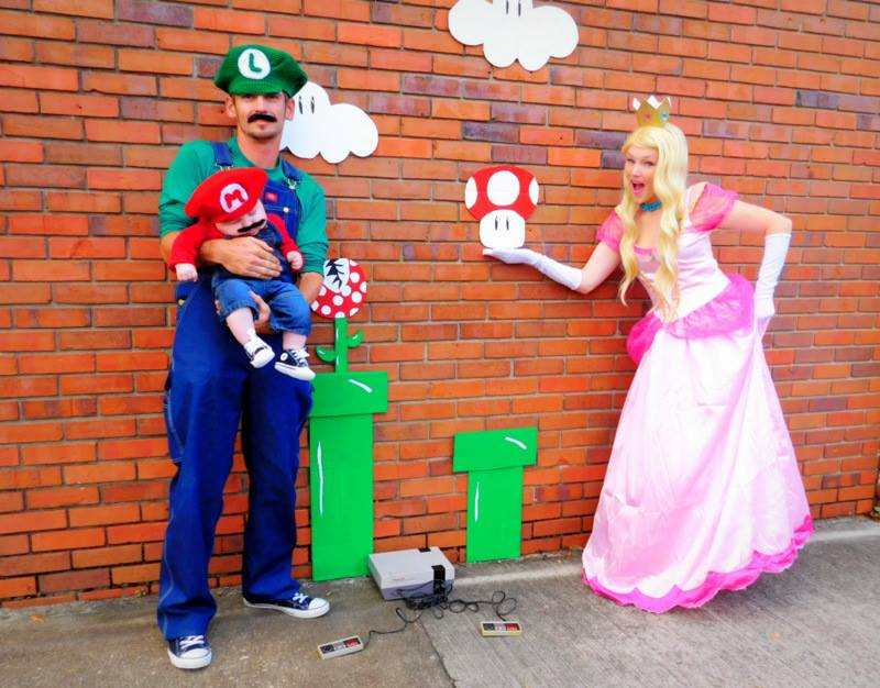 mario and luigi girl costumes diy