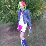 Homemade Rainbow Dash Costume