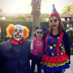 DIY Scary Clown Family Costume