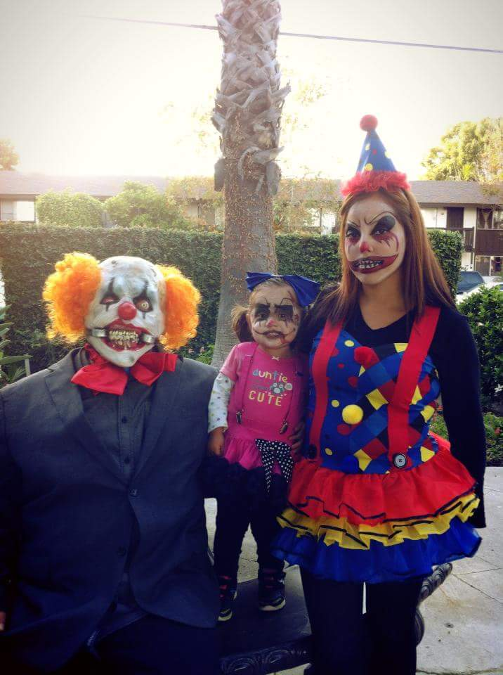 Scary Clown Family