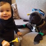 DIY Scuba Bros Dog and Owner Costumes