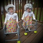 DIY Old Lady Costumes for Twin Sisters