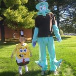 Homemade SpongeBob and Squidward Costumes