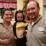 "Young""s Wild Animal Sanctuary and Escaped Wild Monkey Family Costume"