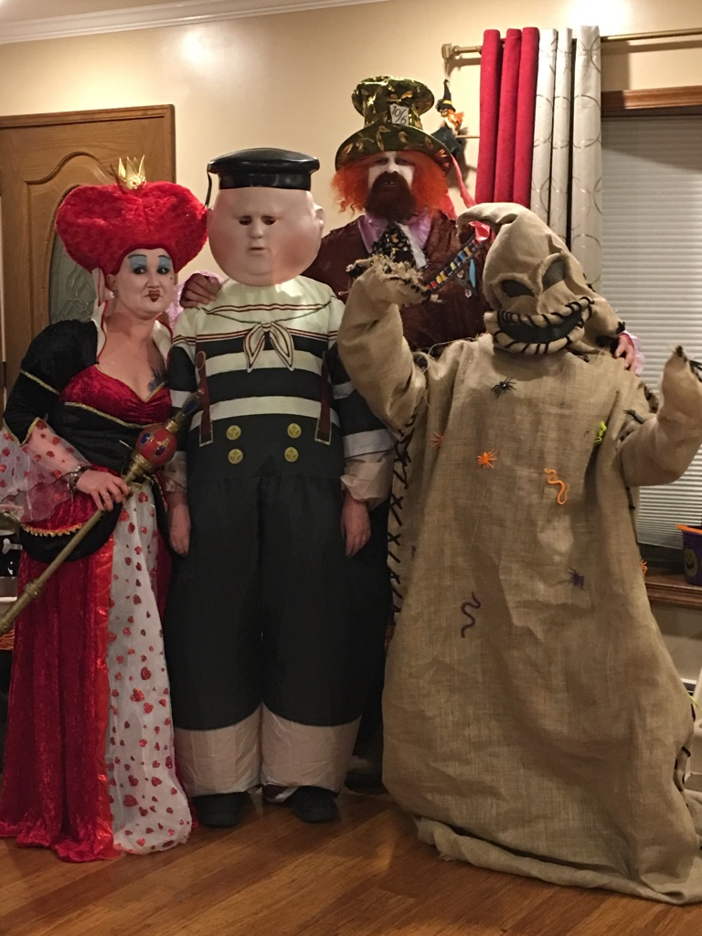 mad hatter queen of hearts tweedle dee and the boogie man